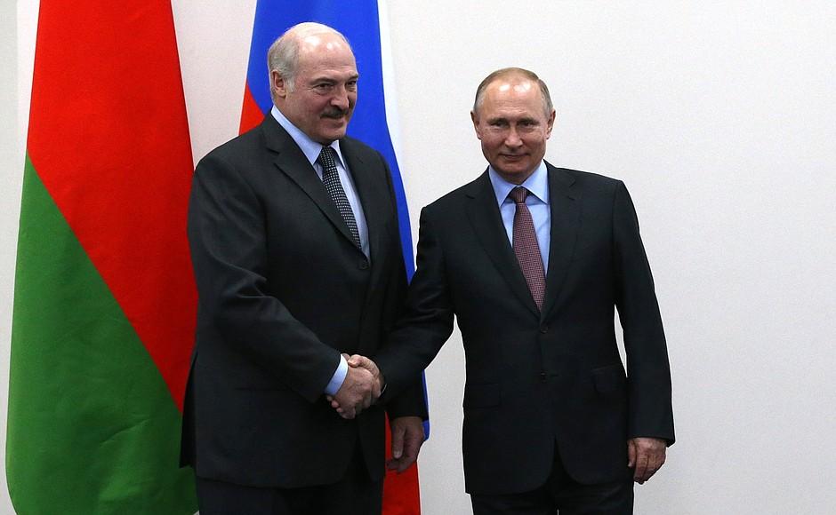 Путин и Лукашенко о совместных энергетических проектах